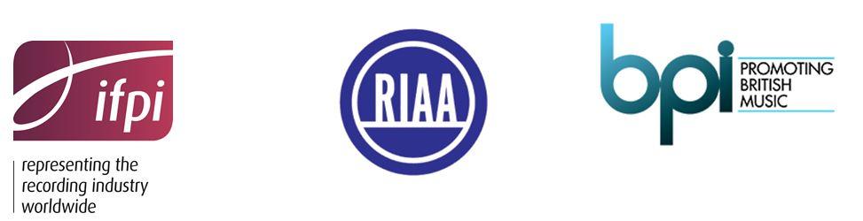 Logos IFPI RIAA BPI